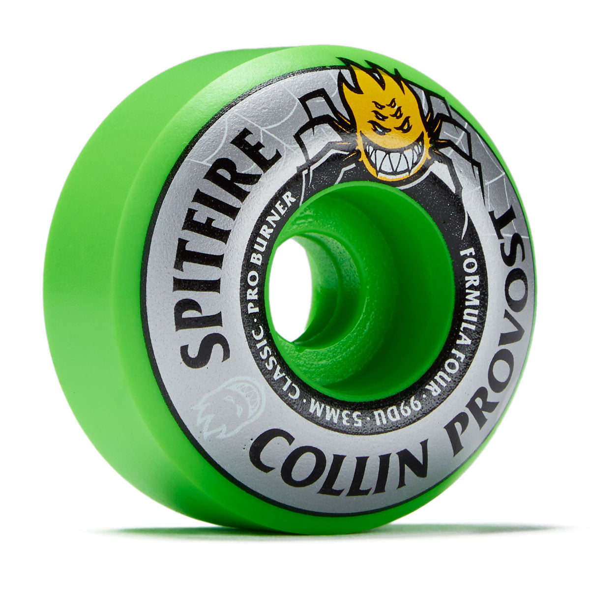 Spitfire Collin Provost Formula Four Classic Pro Burner Wheels 53mm 99DU Green - Feet First NJ