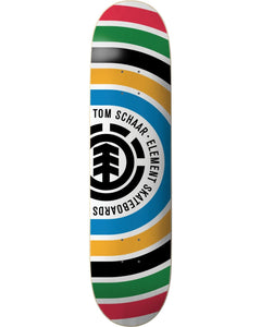 "Element Tom Schaar ""Rings"" Skateboard Deck 8.0"" w/Free MOB Griptape"
