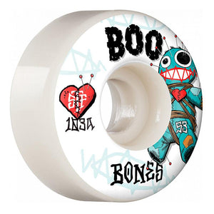 "Bones Boo Johnson ""Voodoo"" STF V4 Wide Skateboard Wheels 53mm 103a (4 Pack)"