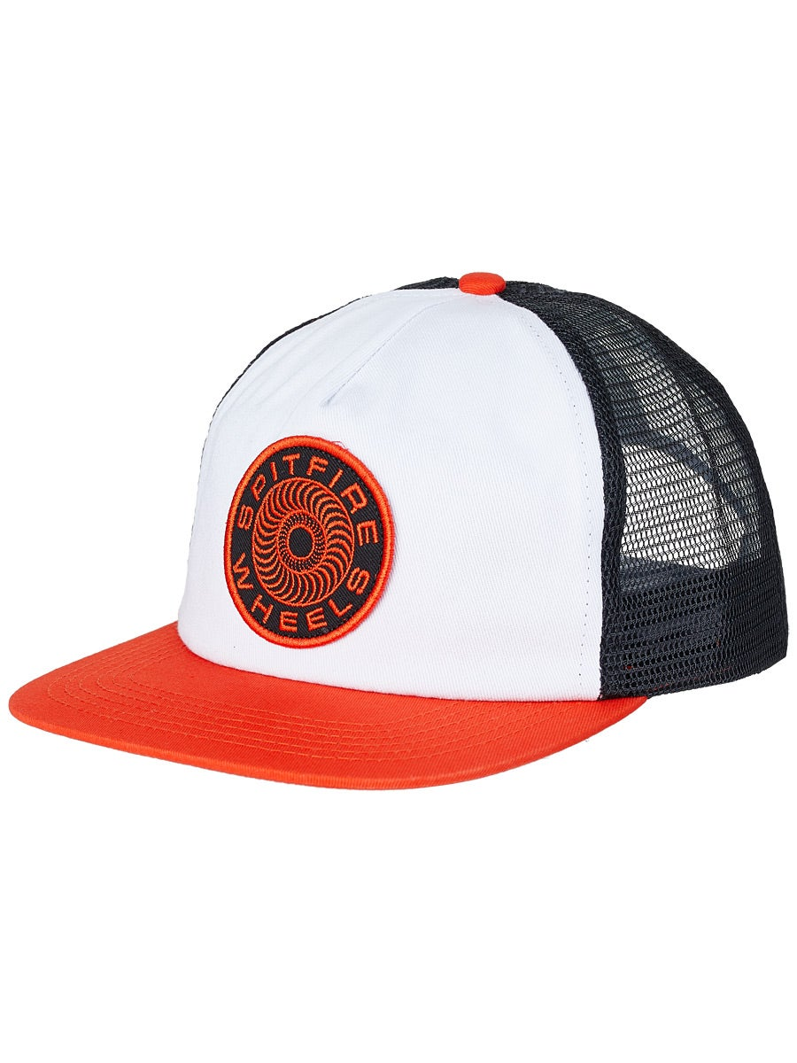 Spitfire Classic 87 Swirl Snapback Trucker Hat White/Orange