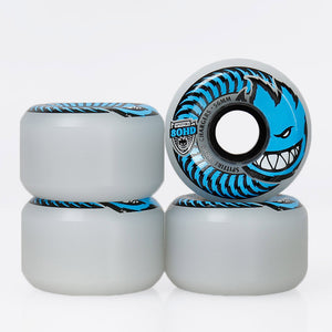 Spitfire 80HD Classic Chargers Soft Wheels Clear/Blue 56mm 4 Pack - Feet First NJ