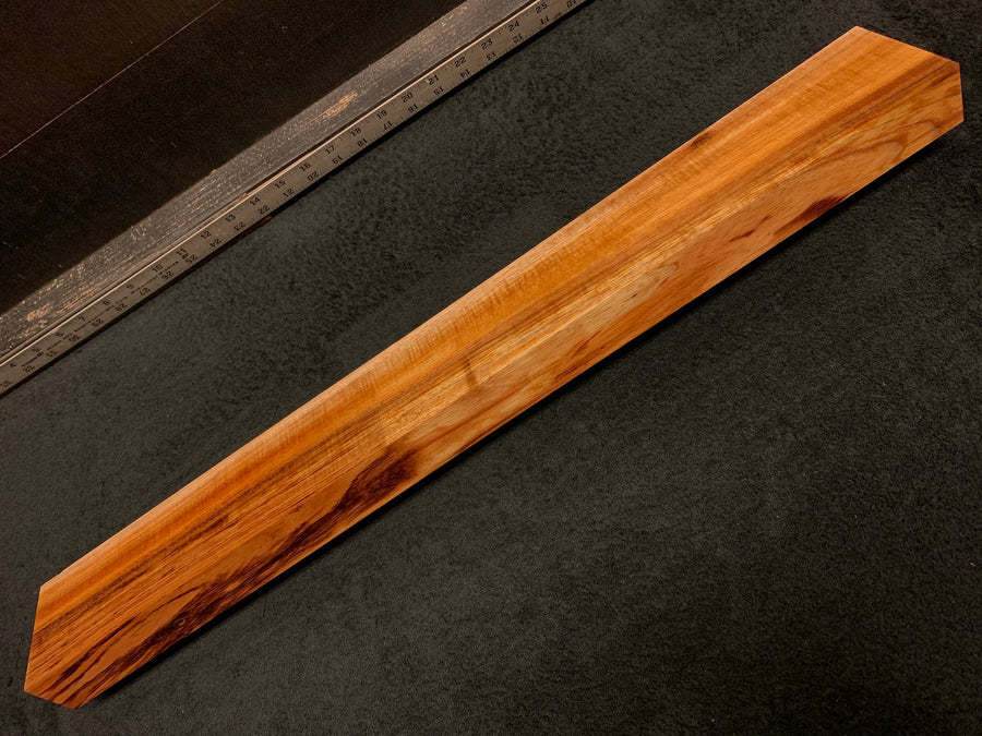 "Hawaiian Curly Koa Wood Billet - 28"" x 3.5"" x 1.625"""