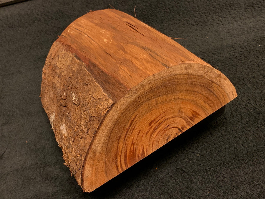 "Hawaiian Curly Koa Turning Wood Bowl Blank -  8"" x 8"" x 3.25"""