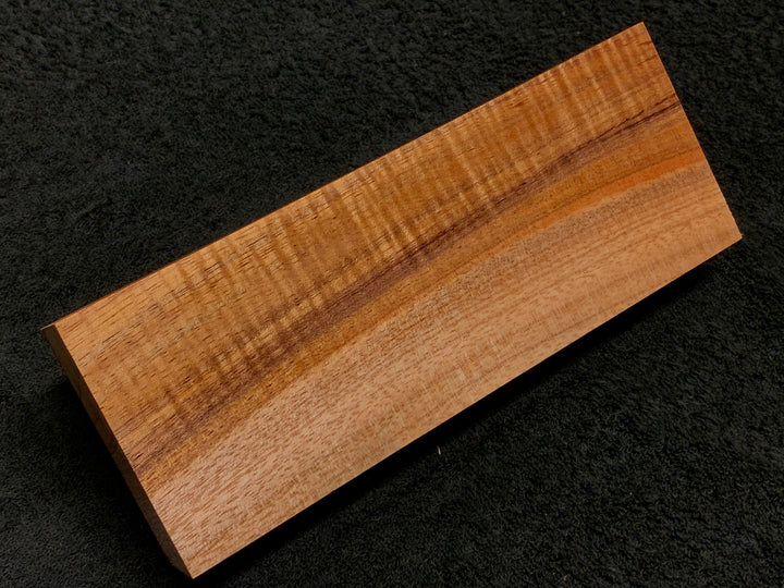 "Hawaiian Curly Koa Wood Billet -  8.5"" x 3.125"" x 1.25"""