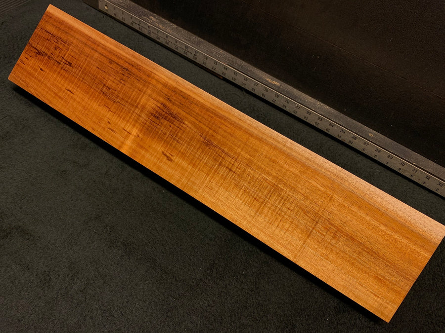 "Hawaiian Curly Koa Wood Billet - 28.5"" x 6"" x 1.625+"""