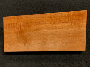 "Hawaiian Curly Koa Wood Billet -  9.5"" x (4.875"" to 4"") x 1.75"""