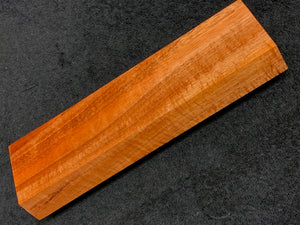 "Hawaiian Curly Koa Wood Billet -  8"" x 2.375"" x 1"""