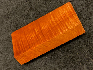 "Hawaiian Curly Koa Wood Billet -  4.5"" x 2.25+"" x 0.75+"""