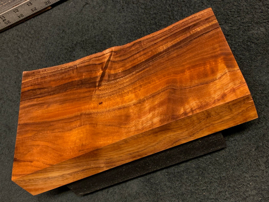 "Hawaiian Curly Koa Wood Craft and Project Blank - 11"" x 5.875+"" x 1.375+"""
