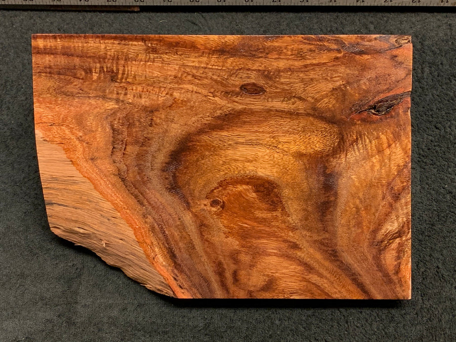 "Hawaiian Curly Koa Wood Craft and Project Blank - 10.25"" x 7.25"" x 1.375"""