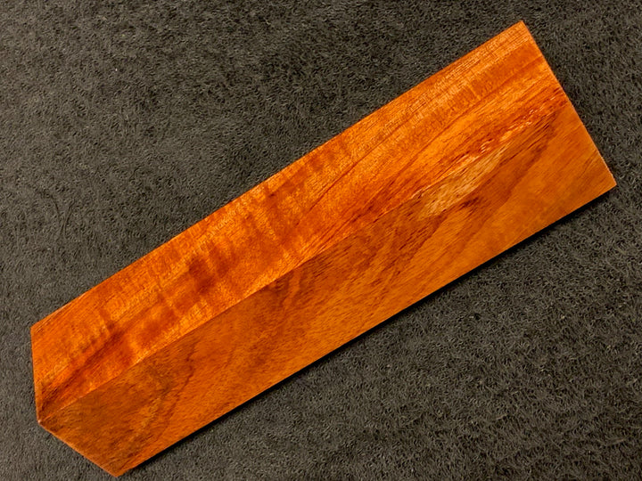 "Hawaiian Curly Koa Wood Billet -  7.5"" x 1.625"" x 1.625"""