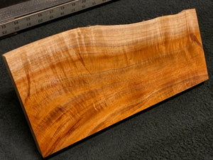 "Hawaiian Curly Koa Wood Craft and Project Blank - 13.25"" x (6.5"" to 4.75"") x 1.5"""