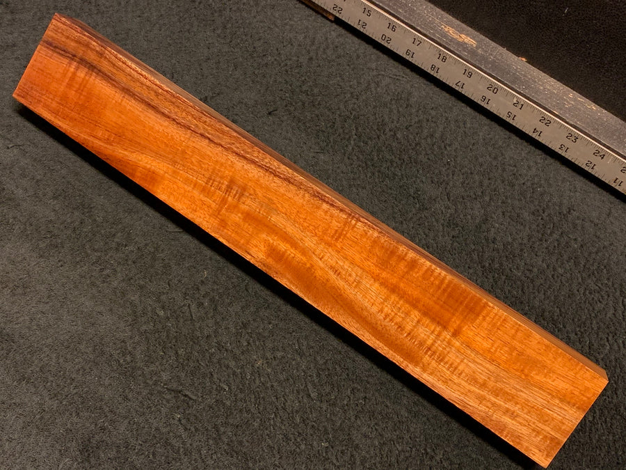 "Hawaiian Curly Koa Wood Billet - 18"" x 2.75"" x 1.375+"""