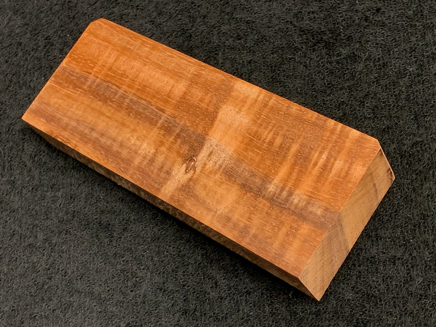 "Hawaiian Curly Koa Wood Billet -  5.375"" x 2+"" x 0875+"""