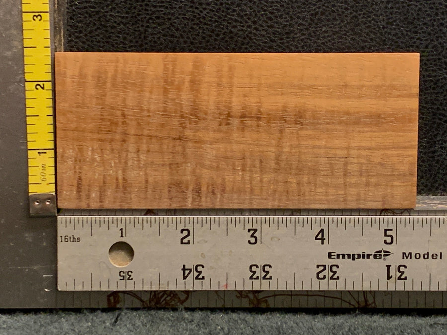 "Hawaiian Curly Koa Wood Billet -  5"" x 2.25"" x 1+"""