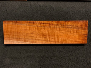 "Hawaiian Curly Koa Wood Billet - 12"" x 3.375"" x 1.25+"""