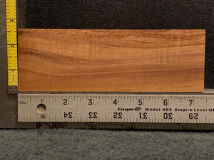 "Hawaiian Curly Koa Wood Billet -  7.25"" x 2.5"" x 0.875"""