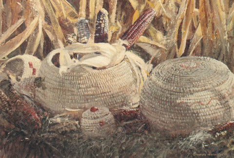 TQ - 25  Indian Corn and Baskets