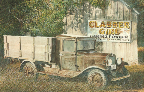 I - 14  Old Truck and Clabber Girl Sign