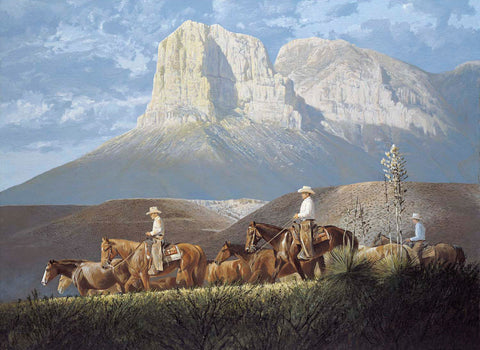 Roundup in the Foothills - Canvas Giclee