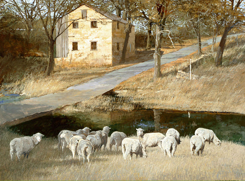 """Threadgill Creek At Lange's Mill"" Giclee"