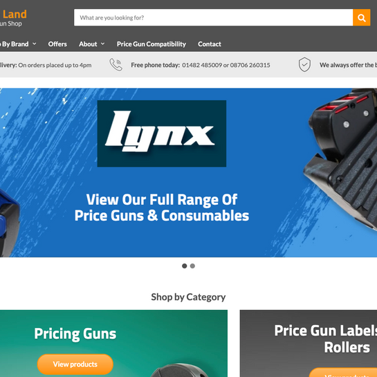 Price Gun Land new website