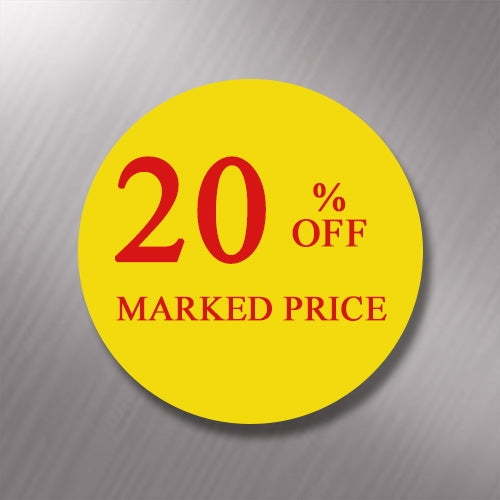 Promotional Labels - 20% Off - 1000 Promo Labels
