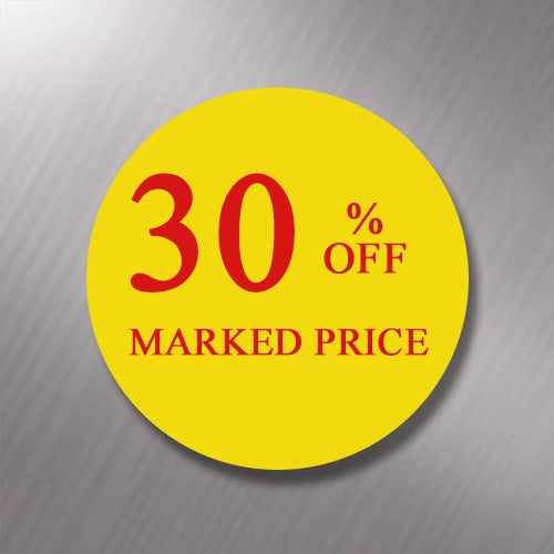 Promotional Labels - 30% Off - 1000 Promo Labels
