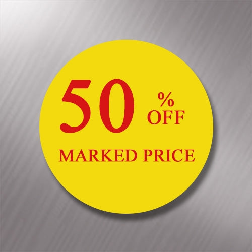 Promotional Labels - 50% Off - 1000 promo Labels