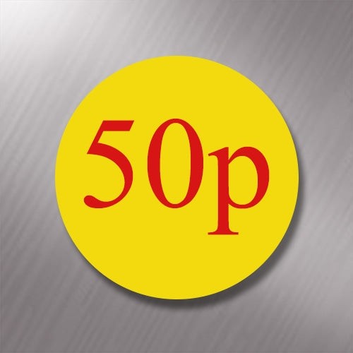 Promotional Labels - 50p - 1000 Promo Labels