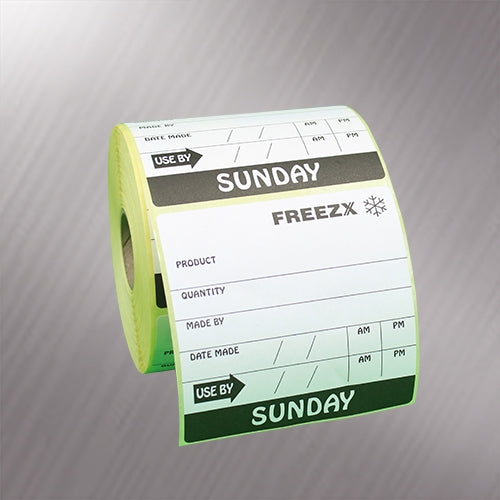 Avery Dennison / Monarch 76mm x 76mm Date Label (Sunday)