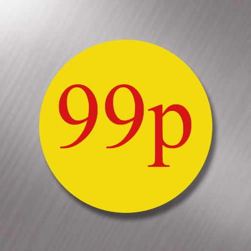 Promotional Labels - 99p - 1000 Promo Labels