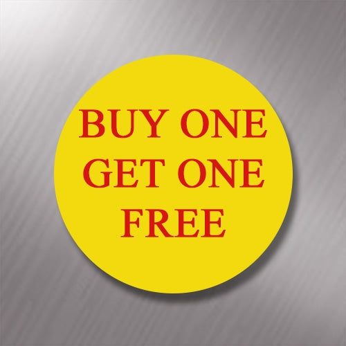 Promotional Labels - Buy One Get One Free - 1000 Promo Labels