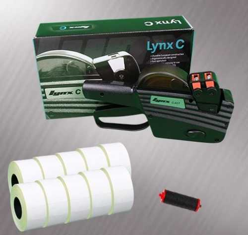 Lynx 2-Line C-A17 Pricing Gun Starter Pack - Stock Pre-Printed