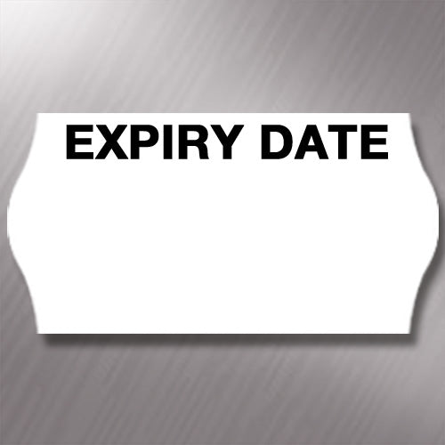 CT4 26 x 12mm Labels Printed 'Expiry Date'
