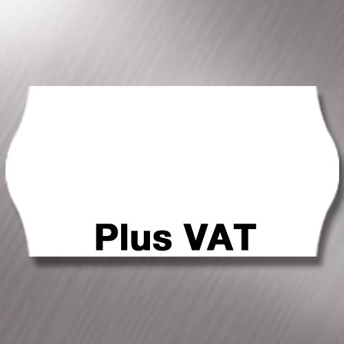 CT4 26 x 12mm Labels Printed 'Plus VAT'
