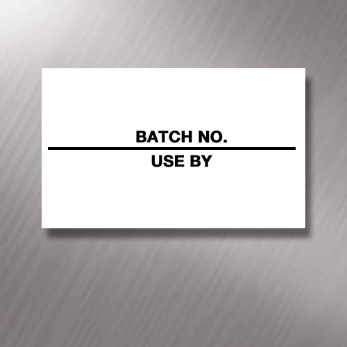 Printed CT7 'Batch No./Use By' 26 x 16mm Price Gun Labels