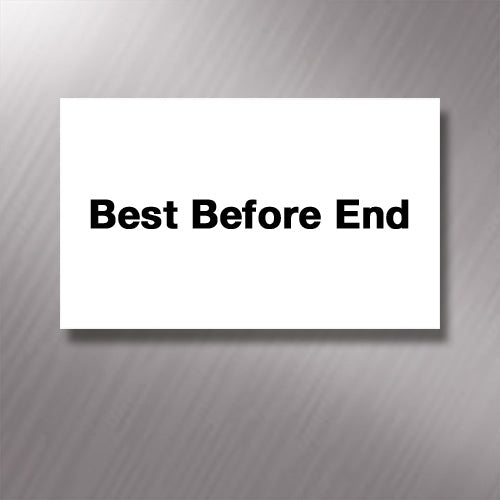 Printed CT7 'Best Before End' 26 x 16mm Price Gun Labels