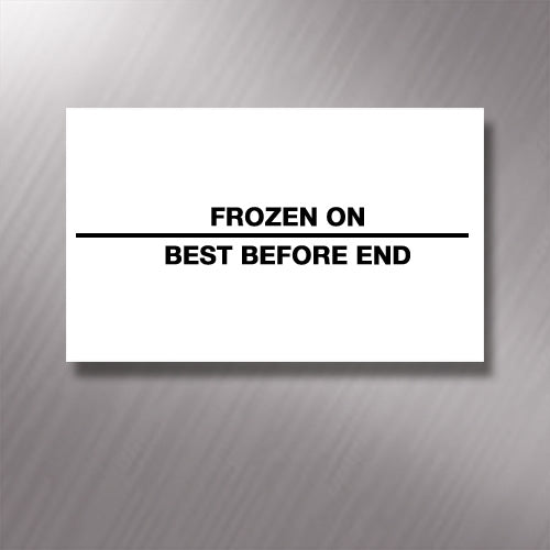 Printed CT7 'Frozen On/Best Before End' 26 x 16mm Price Gun Labels