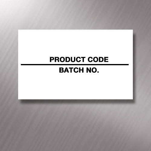 Printed CT7 'Product Code/Batch No.' 26 x 16mm Price Gun Labels