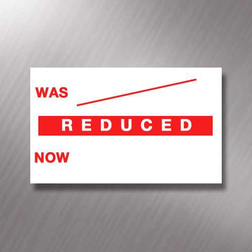 Printed CT7 'Reduced Was / Now' 26 x 16mm Price Gun Labels