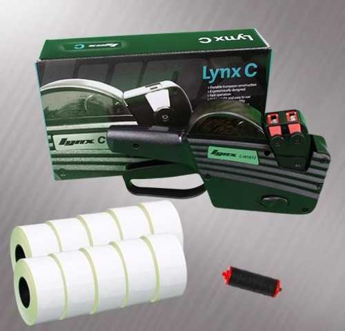 Lynx C-W16 2-Line Pricing Gun Starter Pack - Stock Pre-Printed