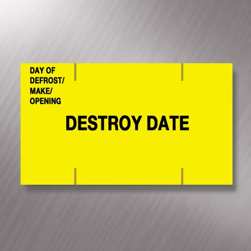 Monarch Paxar 1155 Day of Defrost/Make/Opening/Destroy Date Price Gun Labels