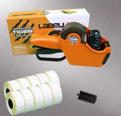 Tiger PGL-8 Price Gun Starter Pack- Stock Pre-Printed