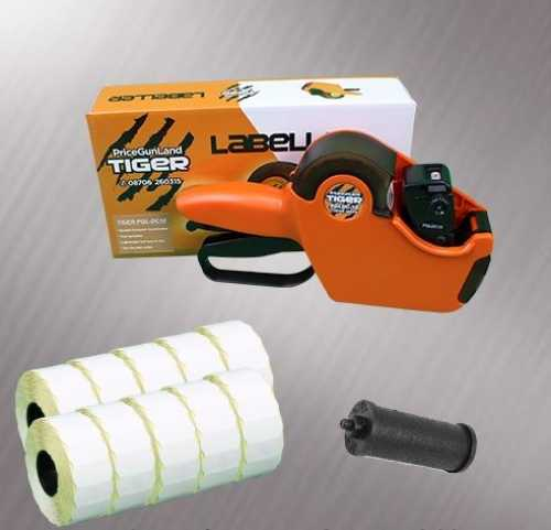 Tiger PGL -DC1 Price Gun Starter Pack - Stock Pre-Printed