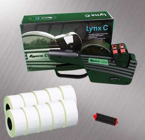 Lynx 2-Line S16-A Pricing Gun Starter Pack - Stock Pre-Printed