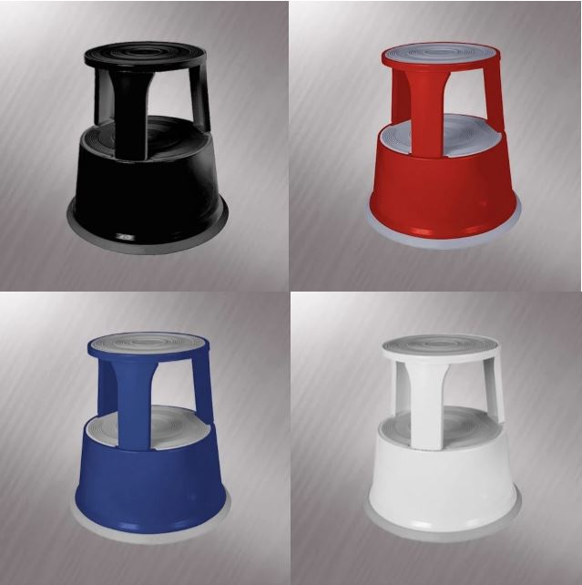 SupaStep - Rolling Step Stool - Various Colours