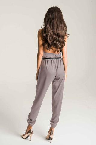 Halter Jumpsuit in Mocha