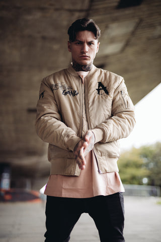 Cream Gang Bomber Jacket