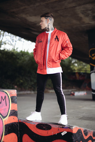 Red Gang Bomber Jacket